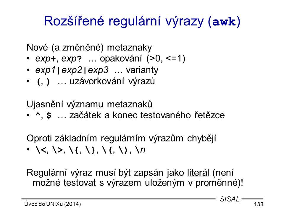 Rozšířené regulární výrazy (awk)