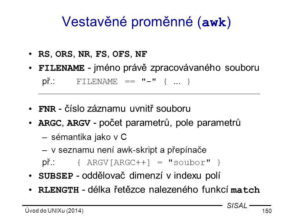 Vestavěné proměnné (awk)