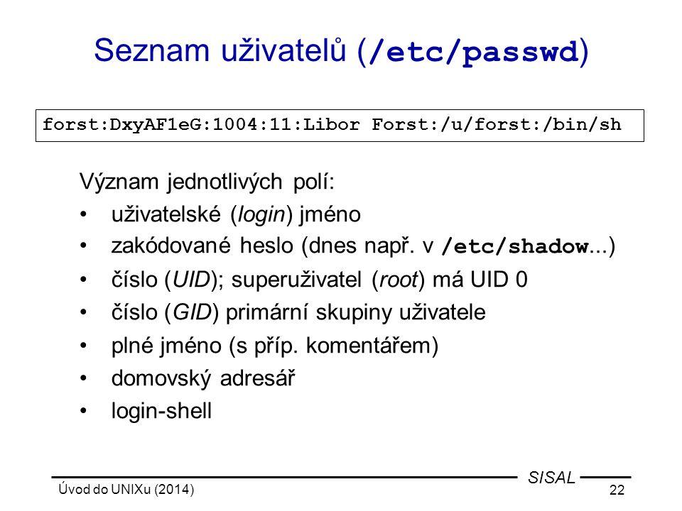 Seznam uživatelů (/etc/passwd)