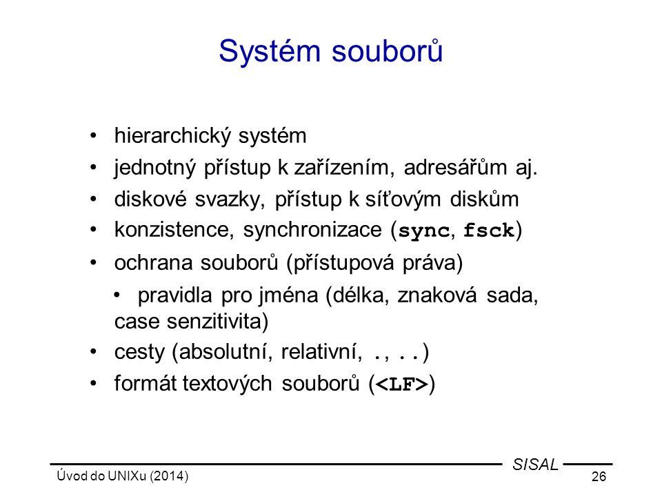 Systém souborů hierarchický systém
