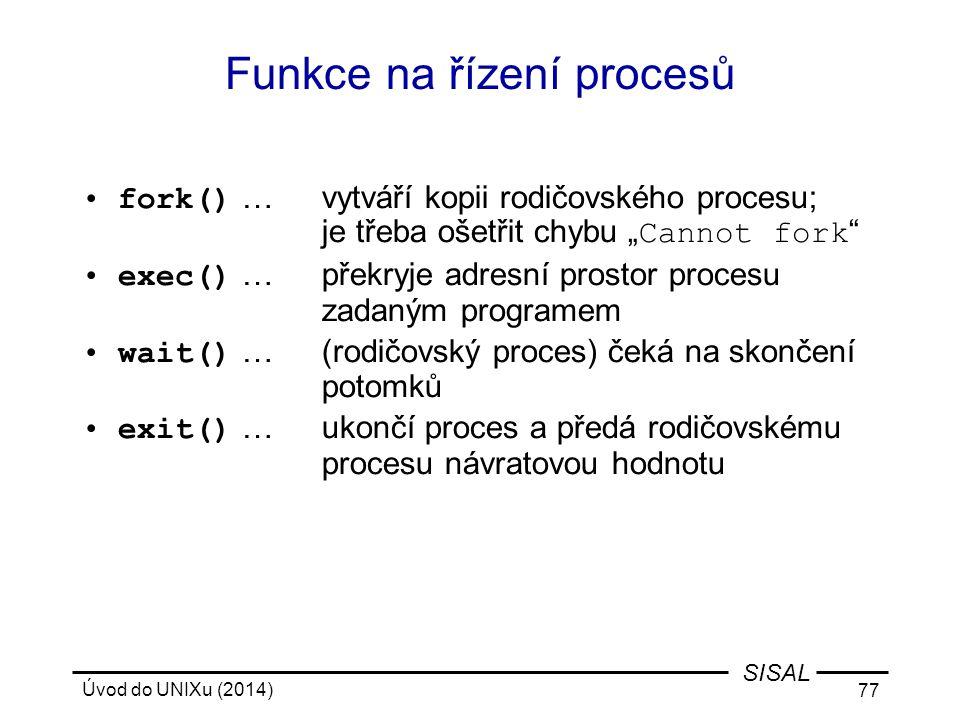 Funkce na řízení procesů