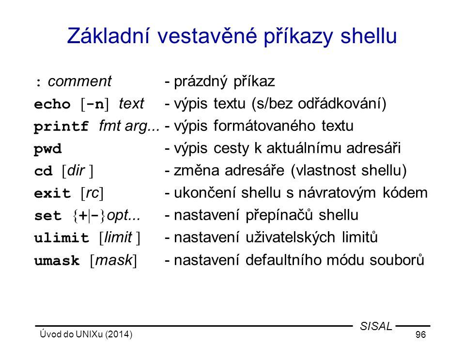 Základní vestavěné příkazy shellu