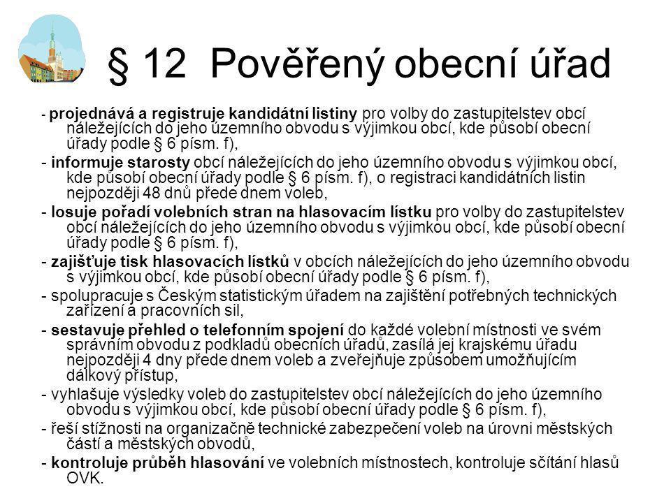 § 12 Pověřený obecní úřad