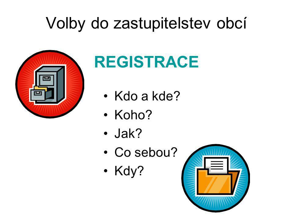 Volby do zastupitelstev obcí REGISTRACE