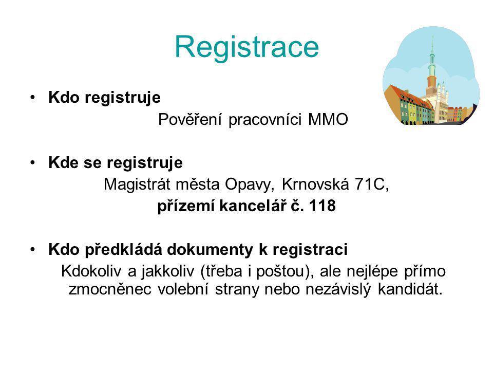 Registrace Kdo registruje Pověření pracovníci MMO Kde se registruje