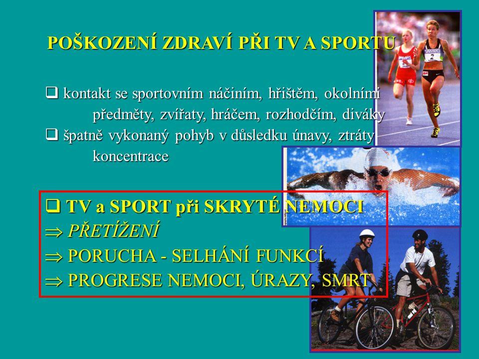 POŠKOZENÍ ZDRAVÍ PŘI TV A SPORTU