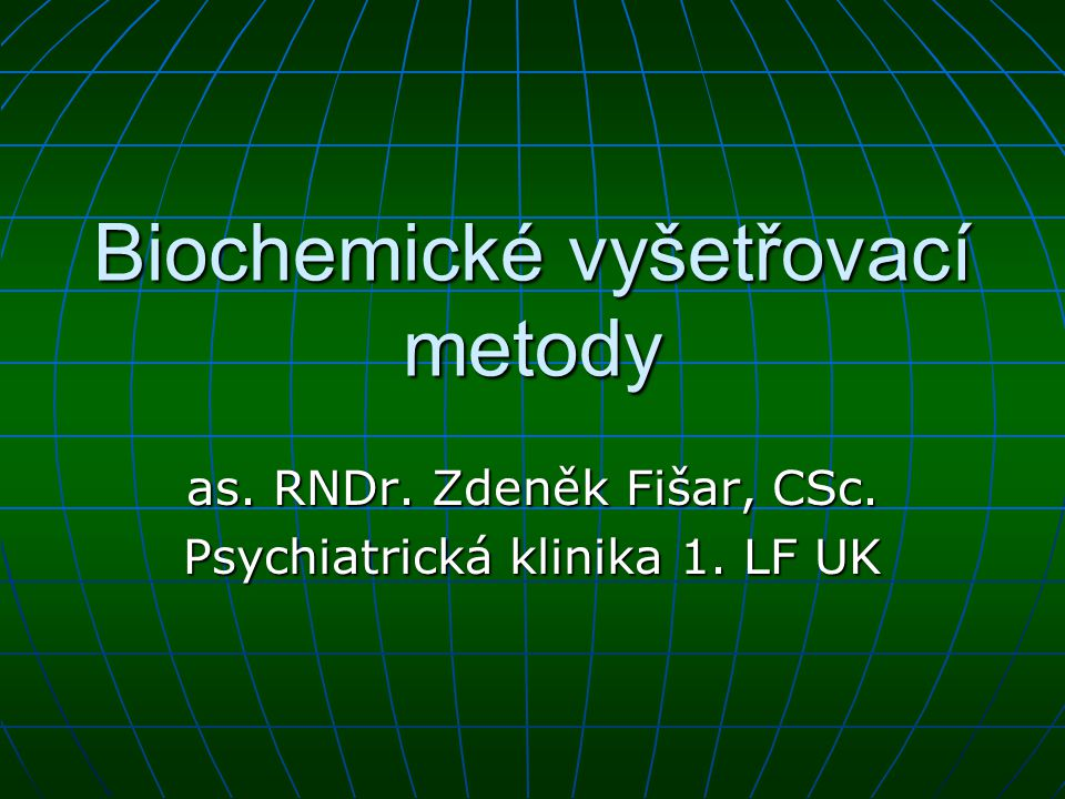 Biochemické vyšetřovací metody