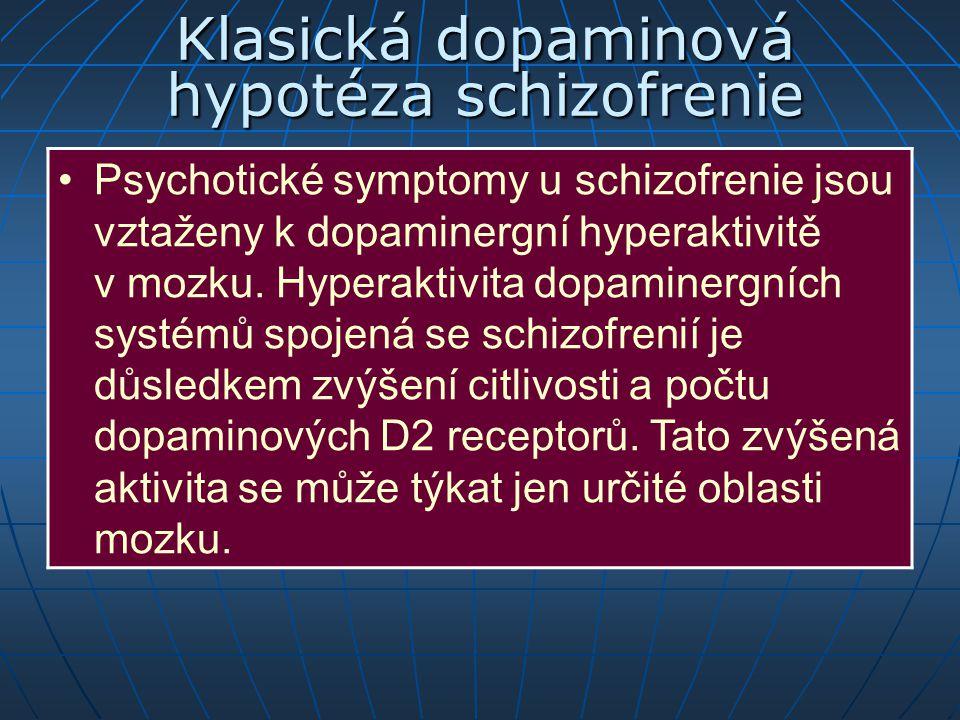 Klasická dopaminová hypotéza schizofrenie