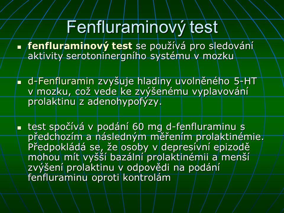 Fenfluraminový test fenfluraminový test se používá pro sledování aktivity serotoninergního systému v mozku.