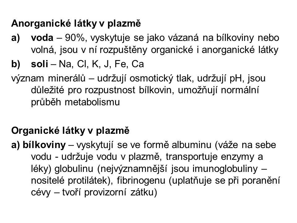 Anorganické látky v plazmě