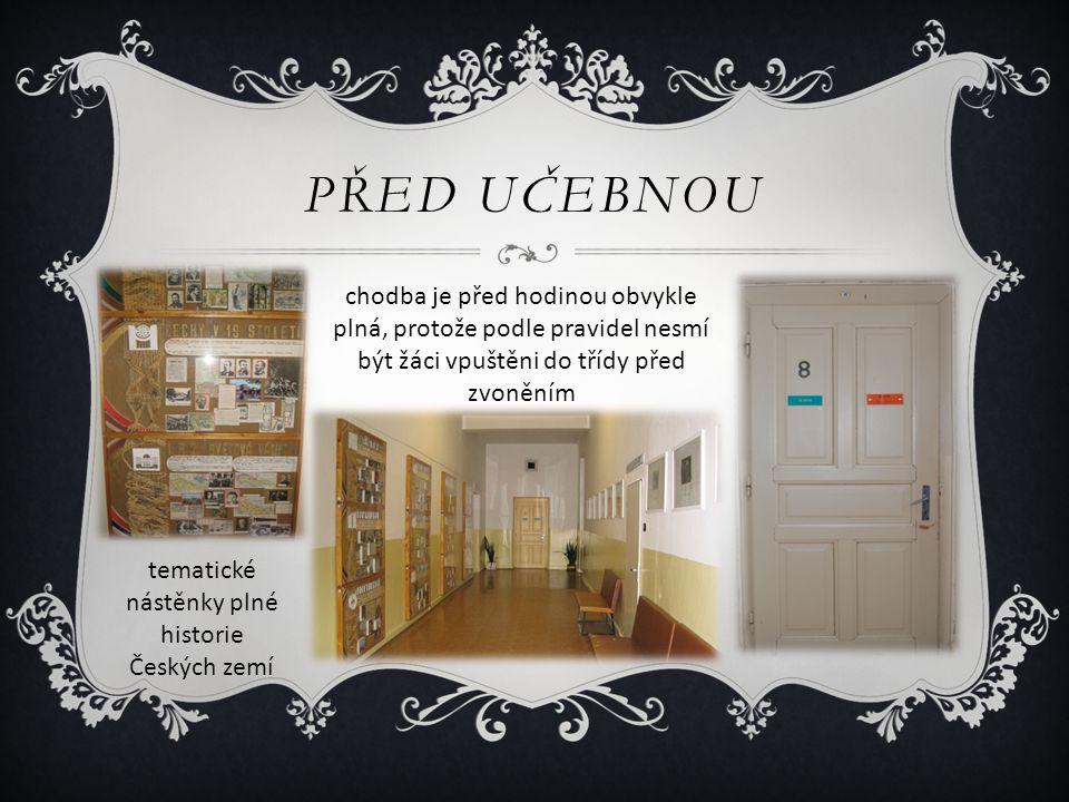 tematické nástěnky plné historie Českých zemí
