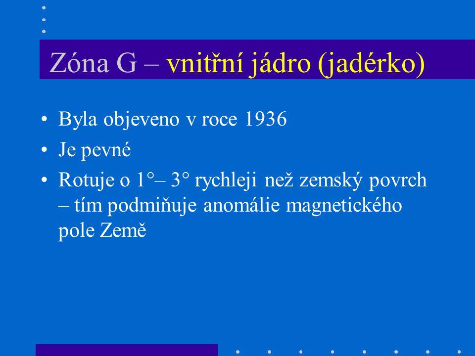 Zóna G – vnitřní jádro (jadérko)