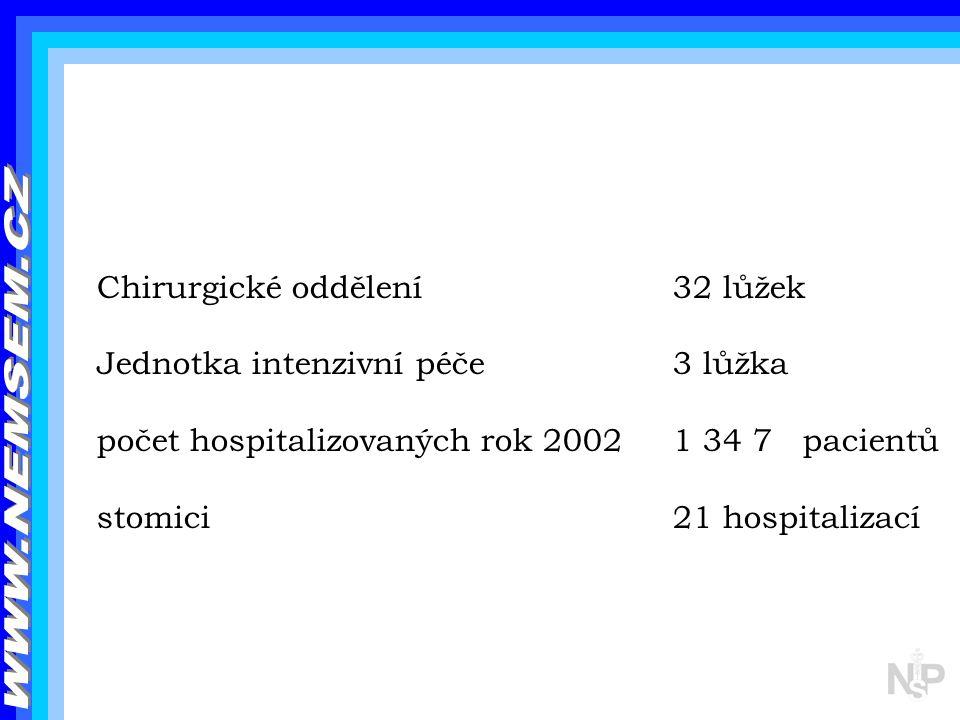 WWW.NEMSEM.CZ Chirurgické oddělení 32 lůžek