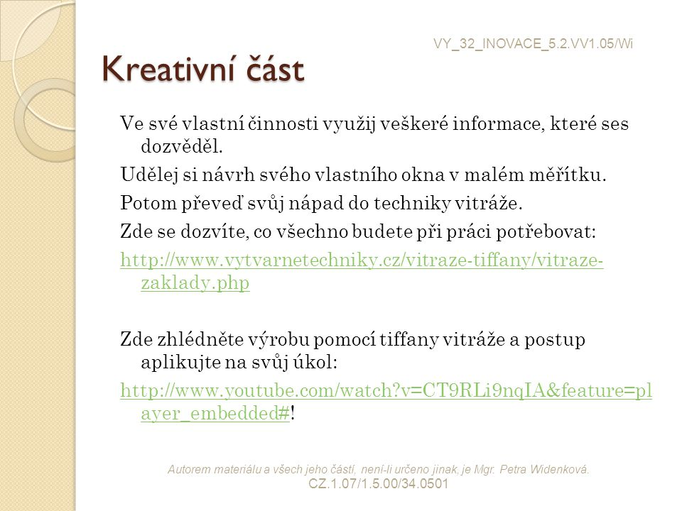 VY_32_INOVACE_5.2.VV1.05/Wi Kreativní část.