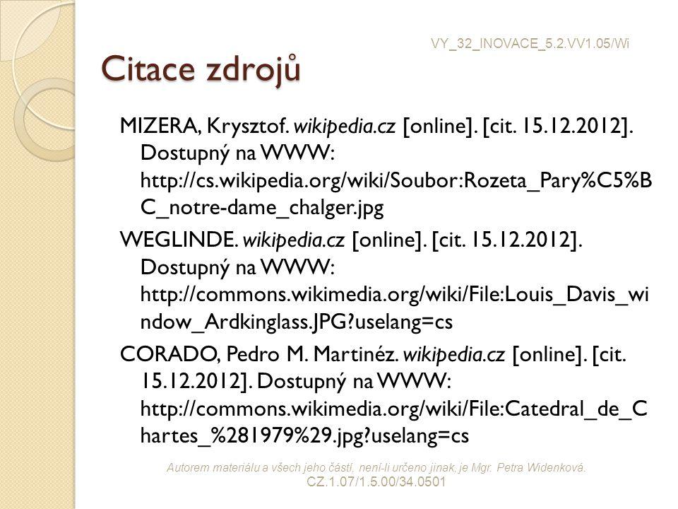 VY_32_INOVACE_5.2.VV1.05/Wi Citace zdrojů.