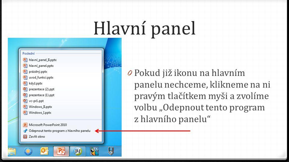 Hlavní panel