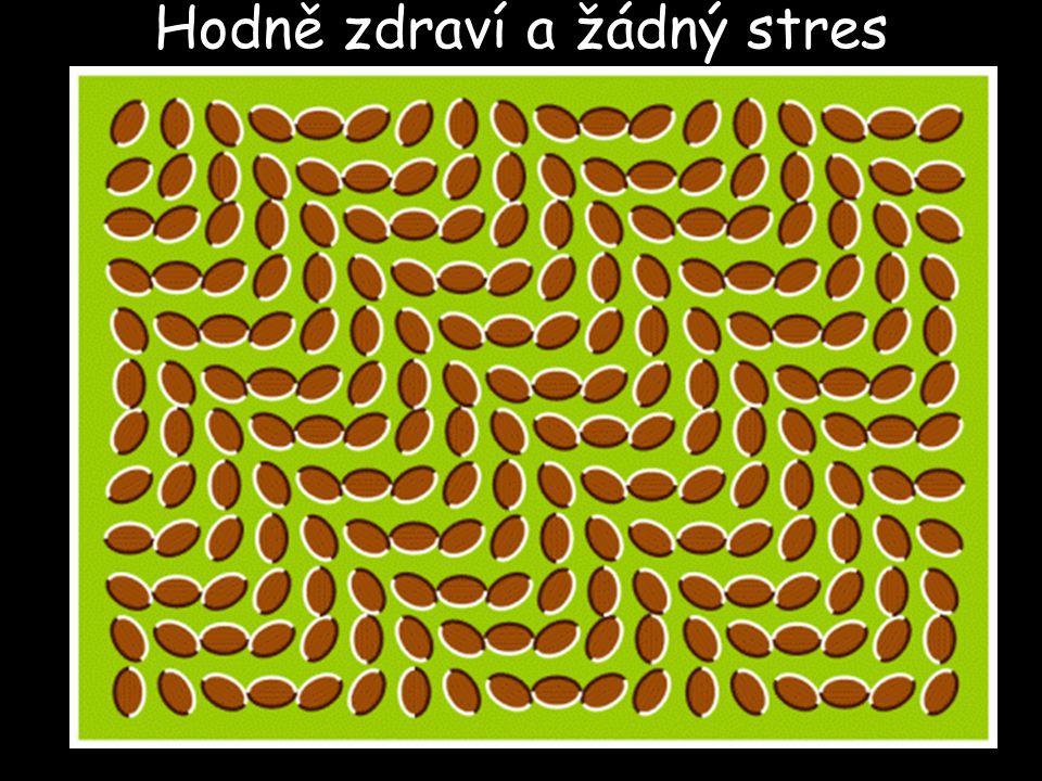 Hodně zdraví a žádný stres (jestli se něco hýbe, tak se nad sebou zamysli)