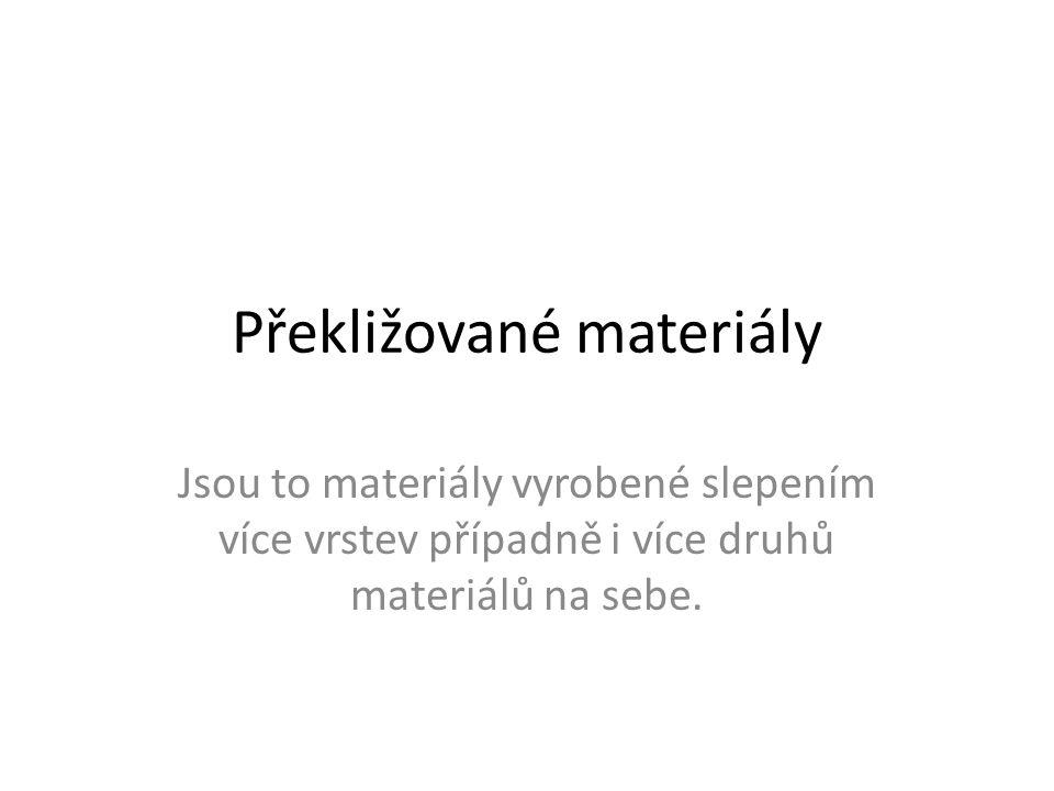 Překližované materiály