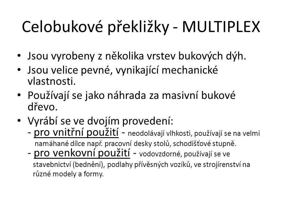 Celobukové překližky - MULTIPLEX