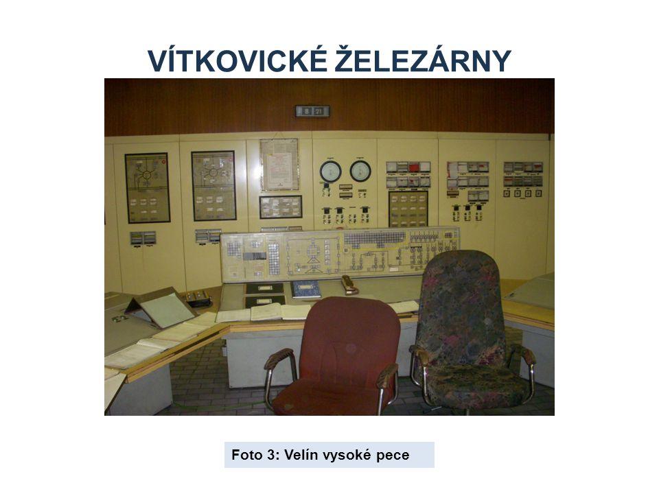 Vítkovické železárny Foto 3: Velín vysoké pece