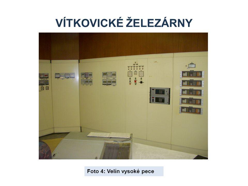 Vítkovické železárny Foto 4: Velín vysoké pece