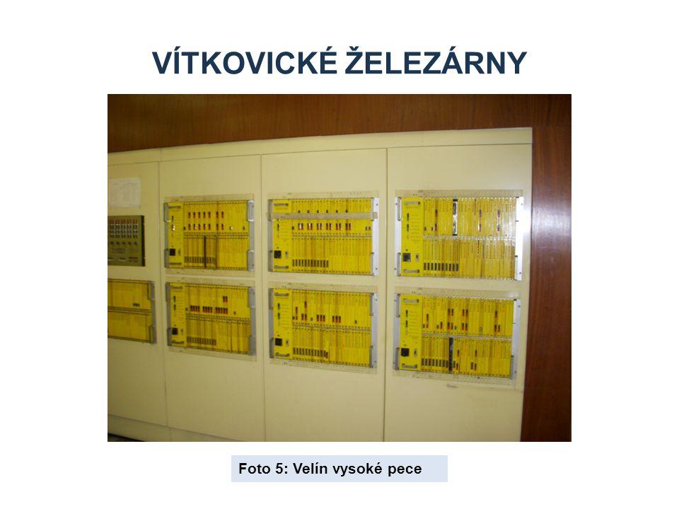 Vítkovické železárny Foto 5: Velín vysoké pece