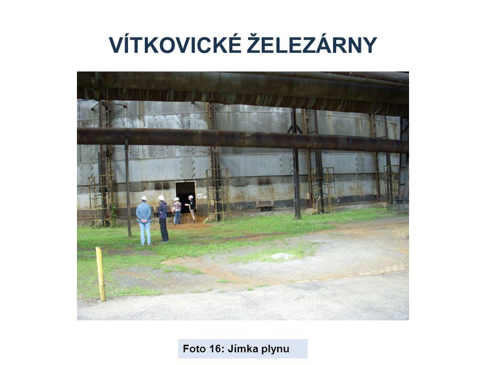 Vítkovické železárny Foto 16: Jímka plynu