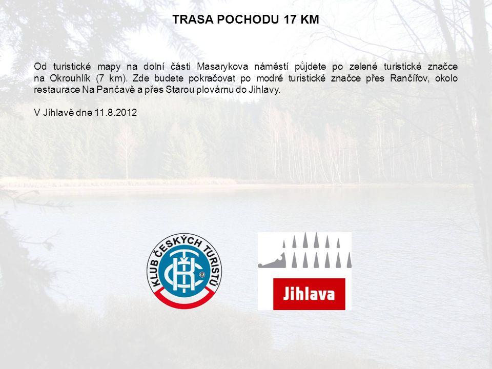 TRASA POCHODU 17 KM