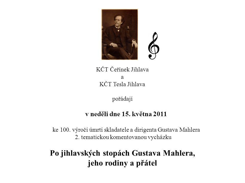Po jihlavských stopách Gustava Mahlera, jeho rodiny a přátel