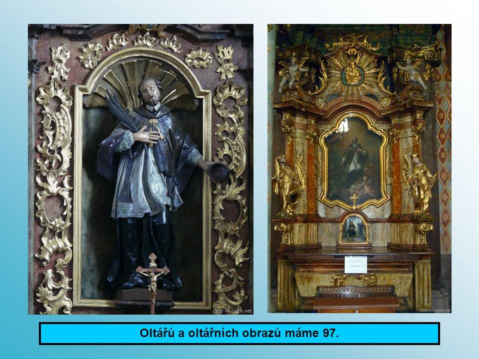 Oltářů a oltářních obrazů máme 97.