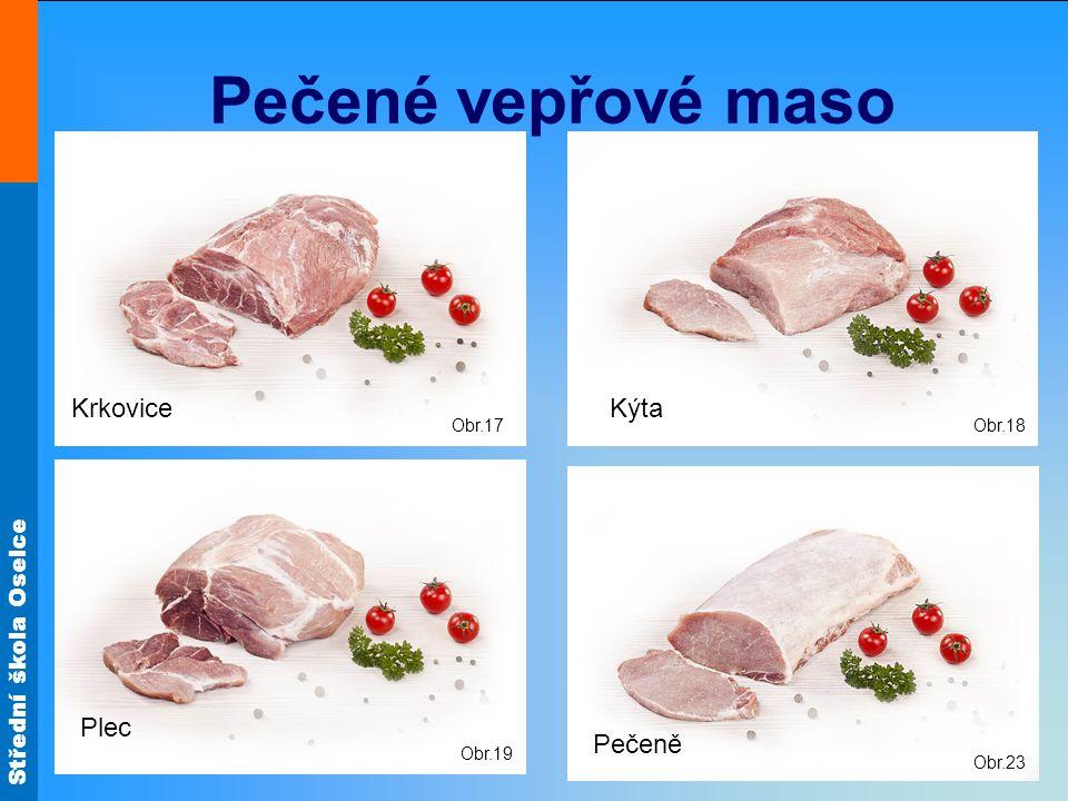 Pečené vepřové maso Krkovice Kýta Plec Pečeně Obr.17 Obr.18 Obr.19