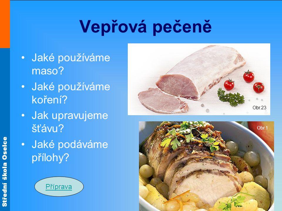 Vepřová pečeně Jaké používáme maso Jaké používáme koření