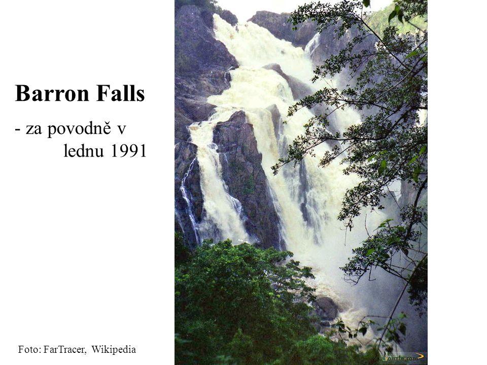 Barron Falls za povodně v lednu 1991 Foto: FarTracer, Wikipedia