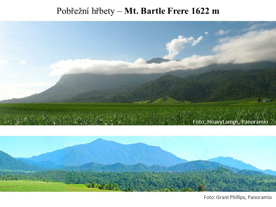 Pobřežní hřbety – Mt. Bartle Frere 1622 m