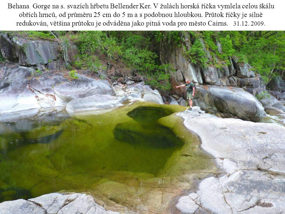 Behana Gorge na s. svazích hřbetu Bellender Ker
