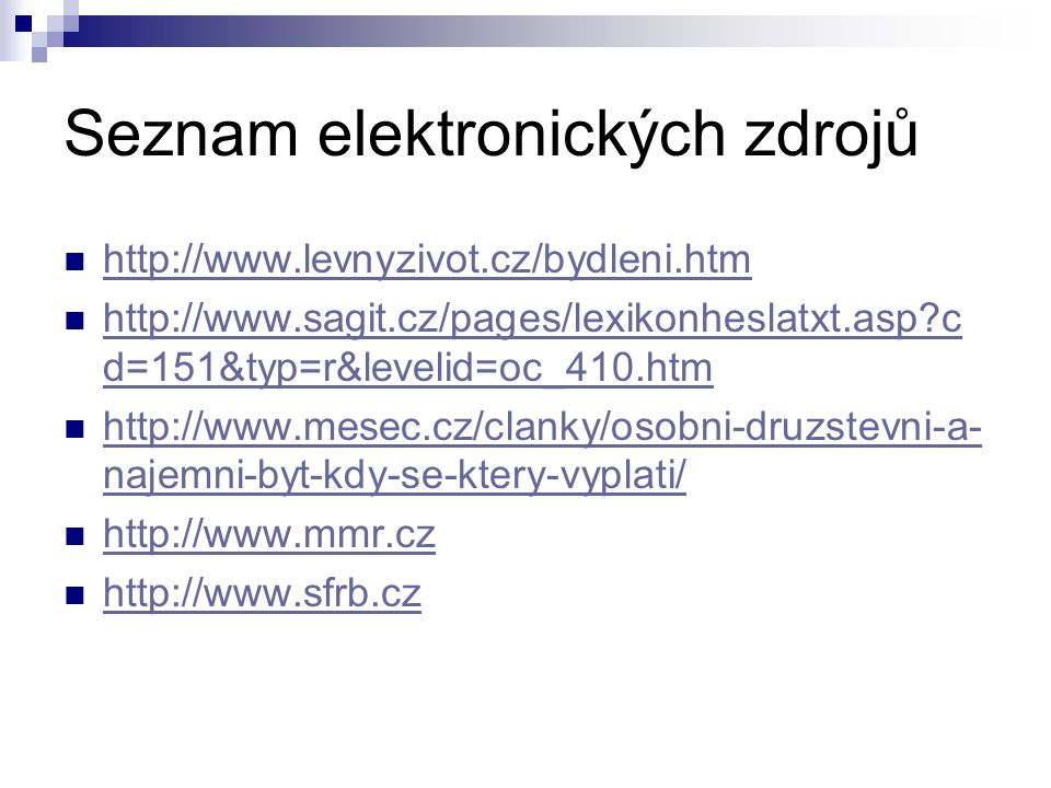 Seznam elektronických zdrojů