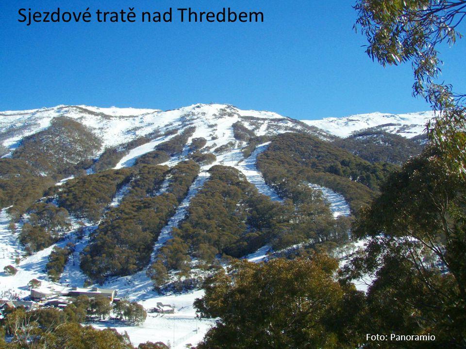 Sjezdové tratě nad Thredbem
