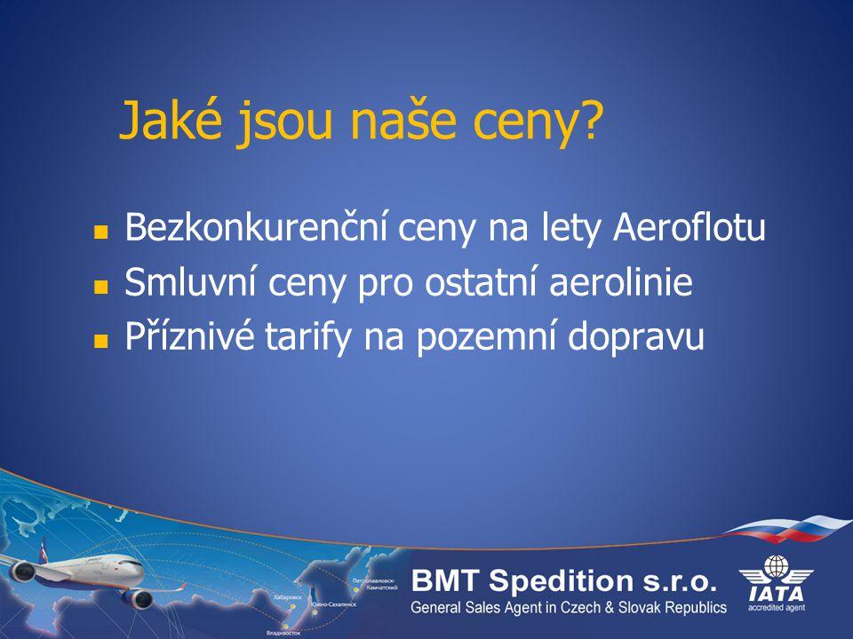 Jaké jsou naše ceny Bezkonkurenční ceny na lety Aeroflotu