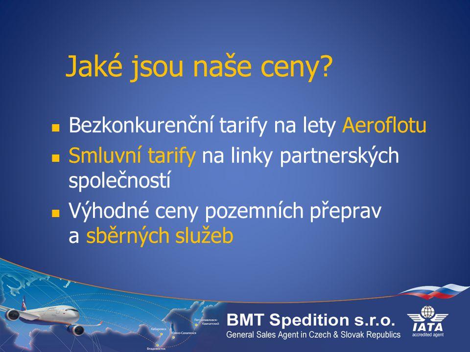 Jaké jsou naše ceny Bezkonkurenční tarify na lety Aeroflotu