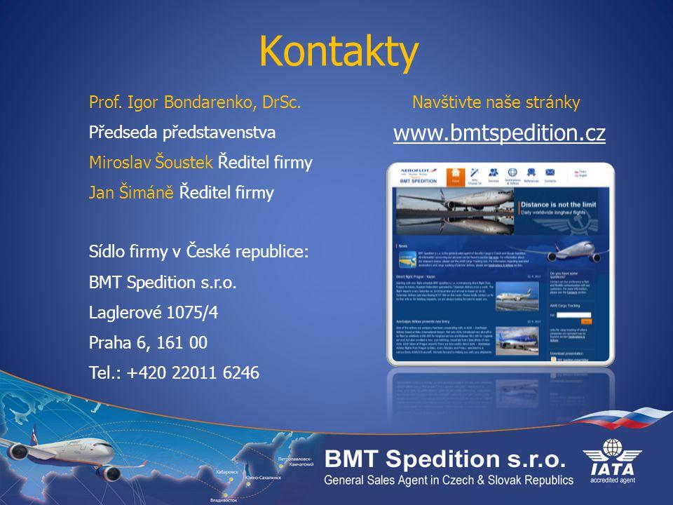 Kontakty www.bmtspedition.cz Prof. Igor Bondarenko, DrSc.