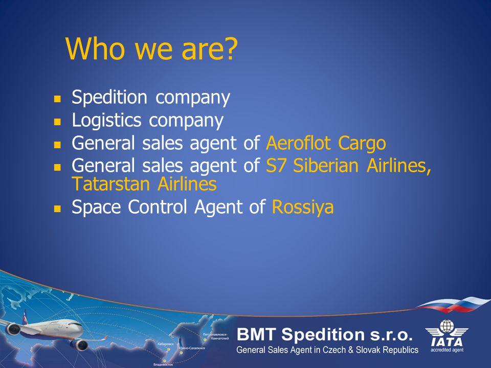 Who we are Spedition company Logistics company