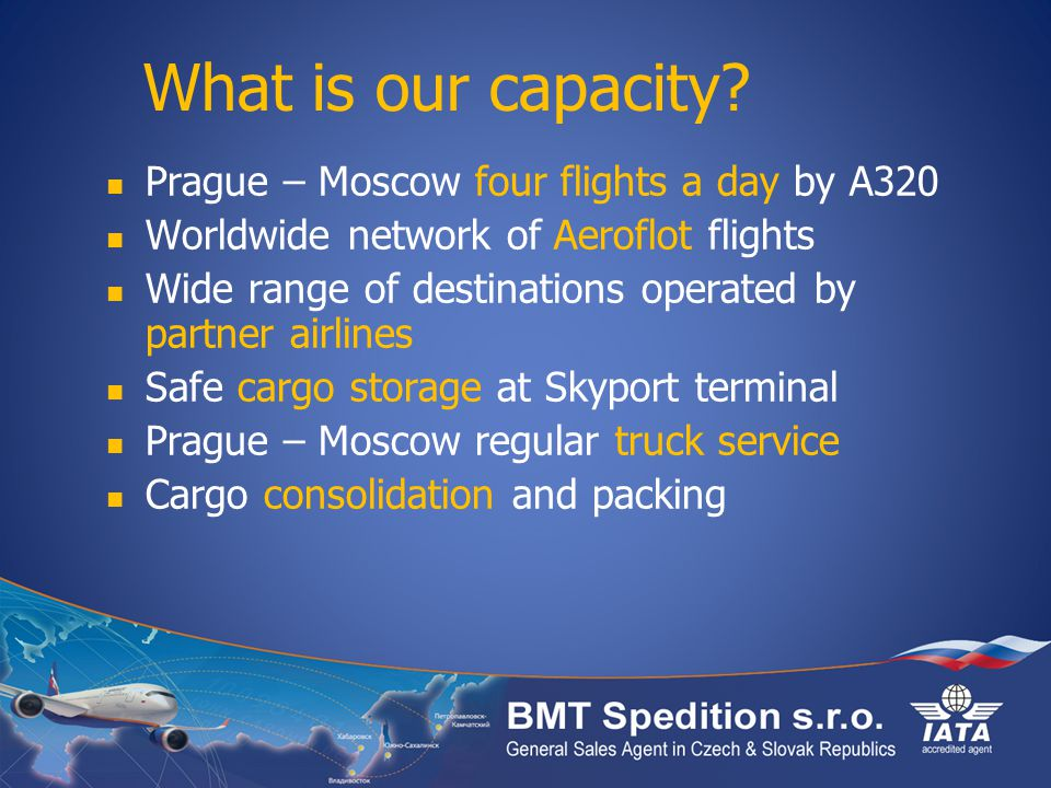 What is our capacity Prague – Moscow four flights a day by A320