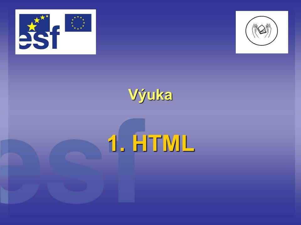 Výuka 1. HTML