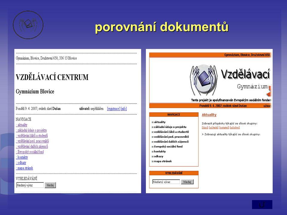 porovnání dokumentů