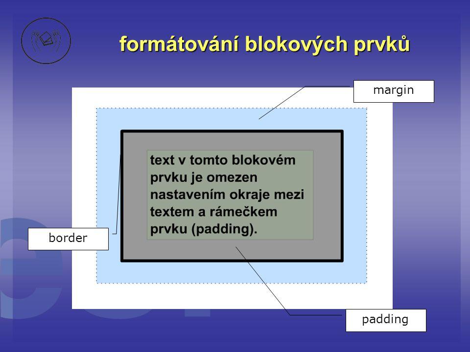 formátování blokových prvků