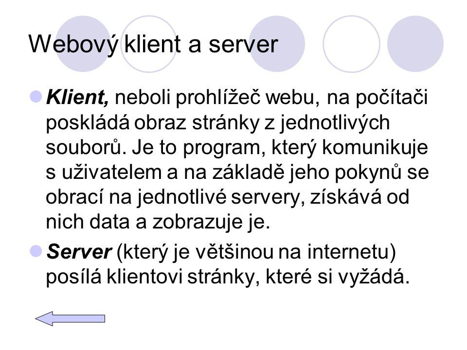 Webový klient a server