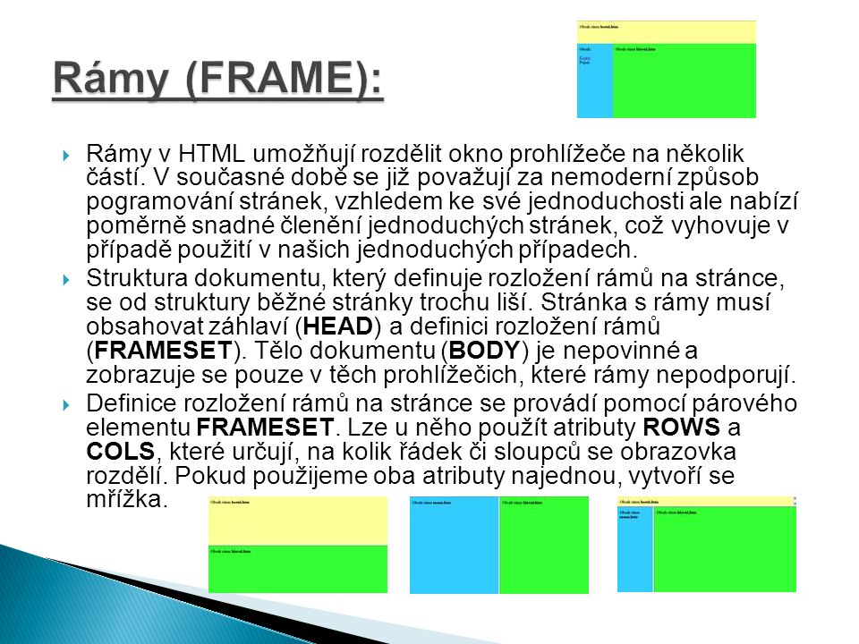 Rámy (FRAME):