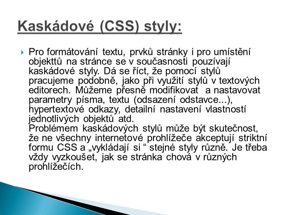 Kaskádové (CSS) styly:
