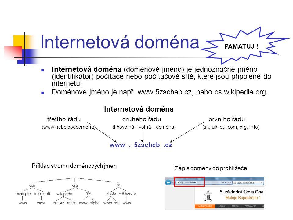 Internetová doména PAMATUJ !
