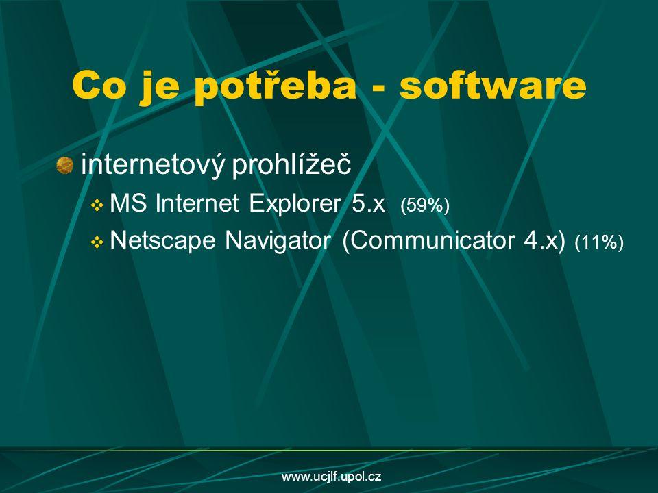 Co je potřeba - software